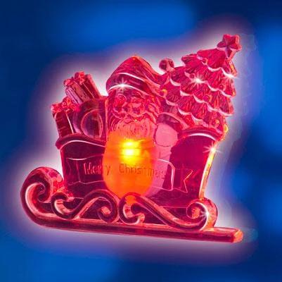 Ornament luminos cu ventuze
