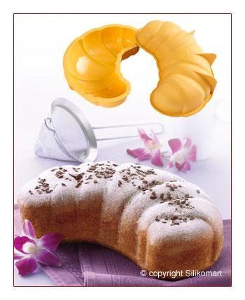 Forma de silicon pentru prajitura Croissant