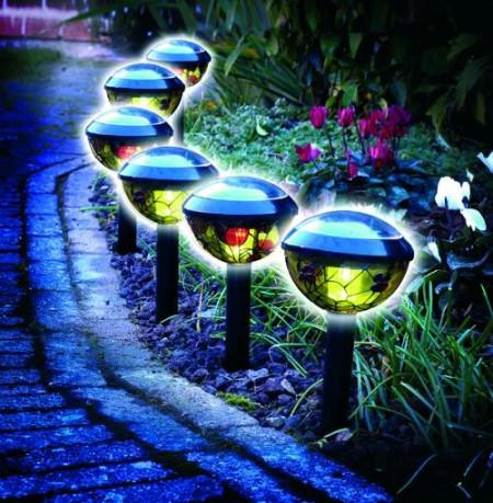"Set de 2 lampi solare ""vitraliu"""