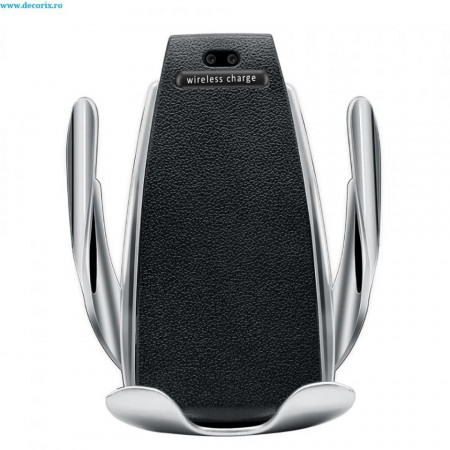Suport Incarcator Telefon Auto Wireless Senzor InfraRosu, Fast Charge
