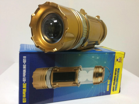Lanterna multifunctionala incarcare solara si 220v