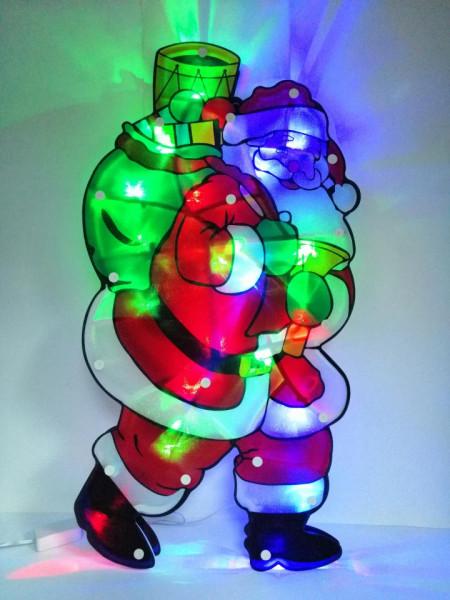 Mos Craciun decoratiune beculete LED