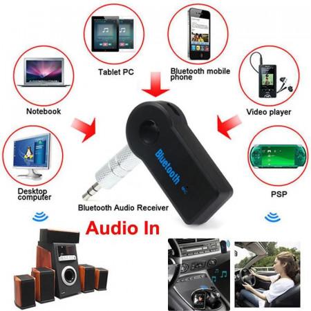 Bluetooth receiver audio cu microfon carkit