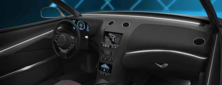 Fir cu lumina ambientala pentru auto , neon ambiental flexibil culoare ALB