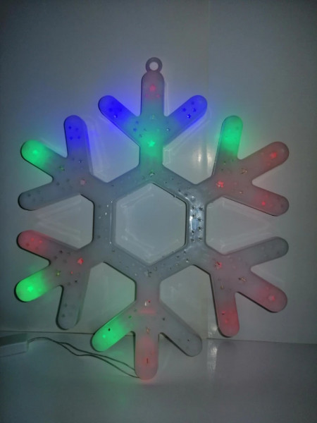 Fulg decoratiune Craciun LED