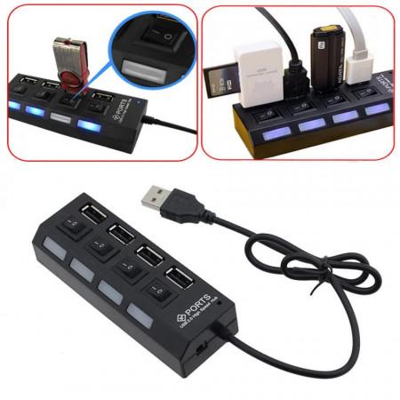 Port USB2.0Hub Comutator buton de pornire / oprire de mare viteză