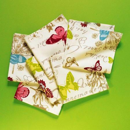 Set 6 servetele textile fluturi