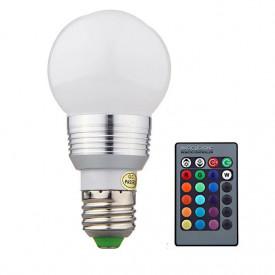 Bec LED 3W 16 culori RGB cu telecomanda