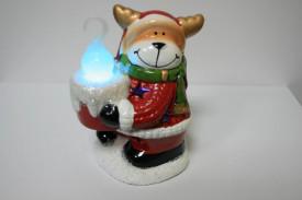Decoratiune Ren cu lumanare din ceramica