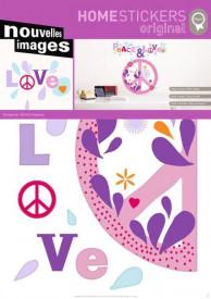 Autocolant perete PEACE & LOVE