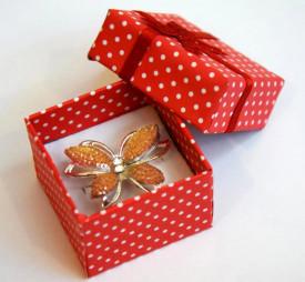 Brosa Fluture portocaliu
