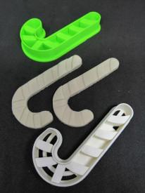 Forma decupaj bastonas 3D