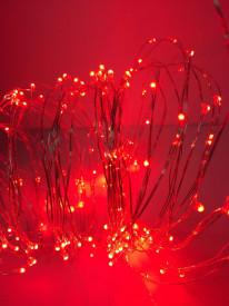 Ghirlandă perdea 2M rezistență la apă culoare roșu