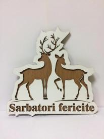 Decoratiune Reni Sarbatori fericite!