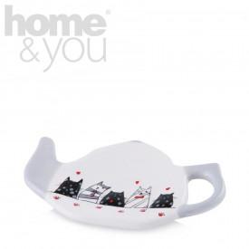 Farfurie ceainic pisicute