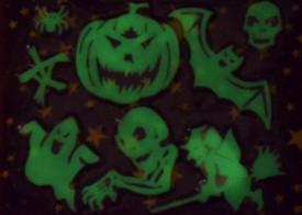 Set 8 decoratiuni Halloween fosforescente