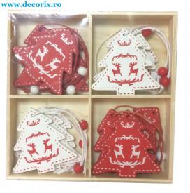 Set ornamente lemn braduti