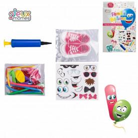 12 baloane cu accesorii + pompa