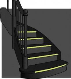 Benzi fosforescente pentru scari