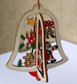 Ornament lemn Clopotel 3D