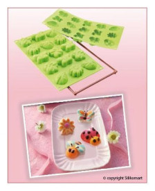 Forma din silicon pentru 15 prajituri mici Primavara / Vara