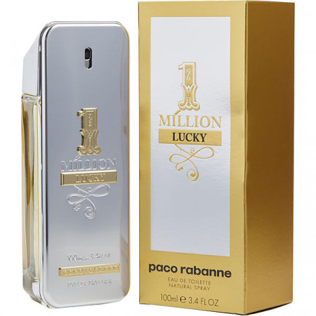 Apa de Toaleta Paco Rabanne, 1 Million Lucky, Barbati, 100 ml