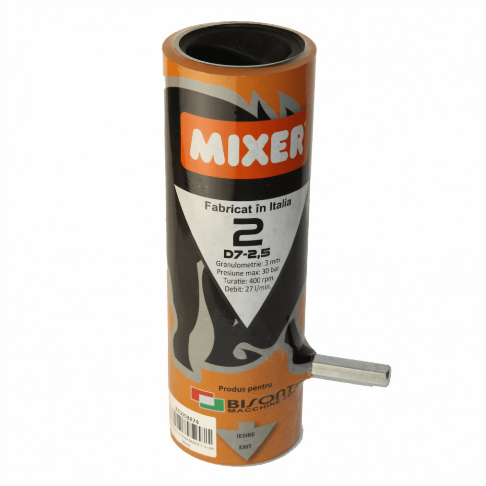 Stator Mixer 2 Italia D7-2.5 drept cu pin blocaj (PCS-K35/PCS-K4) Bisonte