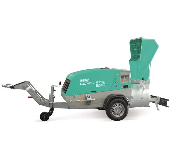 Pompa Mover 270 EVO DBR, debit 220 l/ciclu, max. 12–16 mm, motor diesel, 47 cp IMER