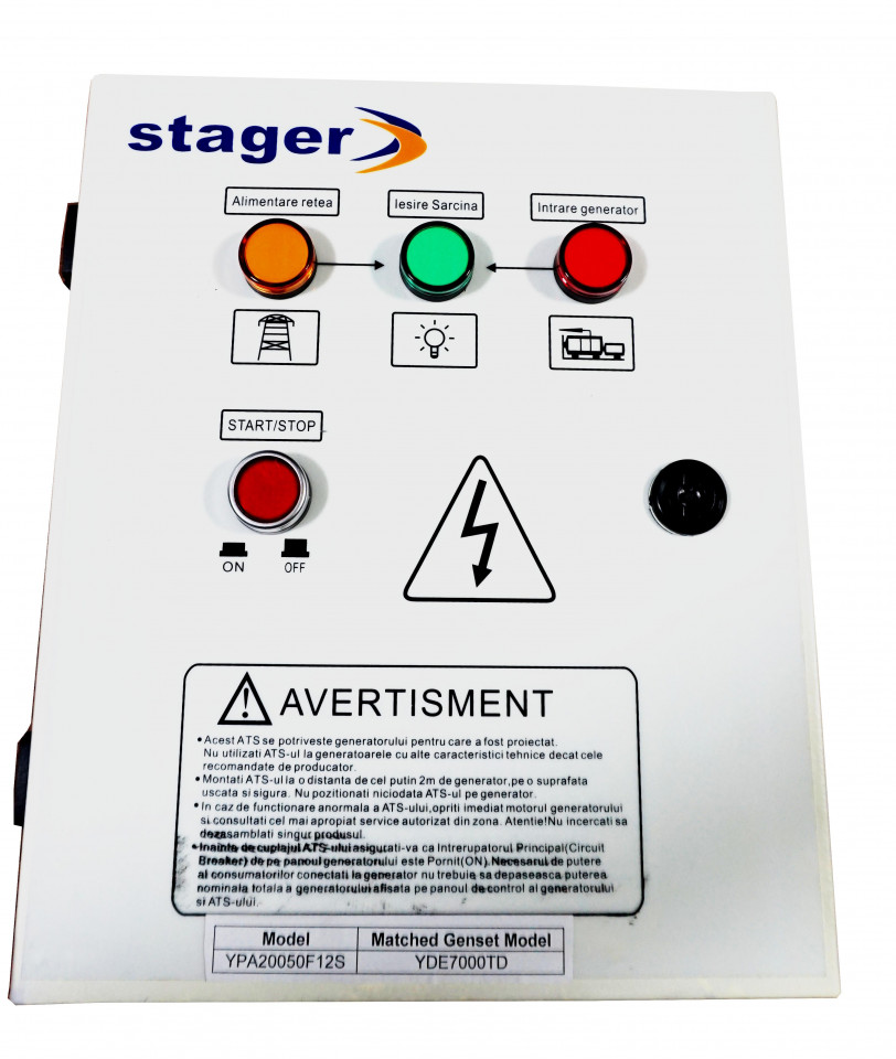 Stager YPA20050F12S automatizare monofazata 50A STAGER