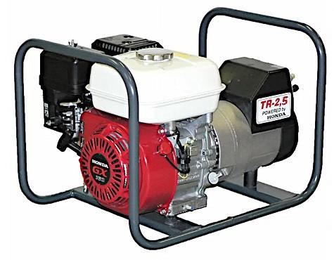 Generator de curent Honda TR 2.5, motor GX-160, monofazat, 2,5 kVA, 4,9 CP Honda