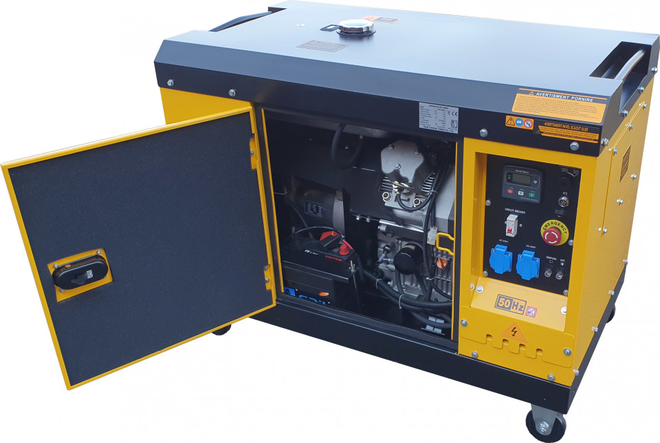 Stager YDE15000T Generator insonorizat diesel monofazat 11kVA, 48A, 3000rpm STAGER