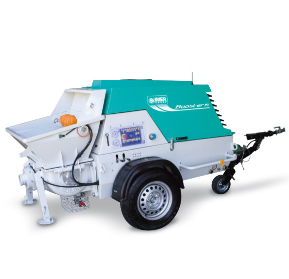 Booster 15, capacitate de pompare 2-15 m³/h, granulometrie maxima 25 mm, motor diesel, 28.4 cp IMER