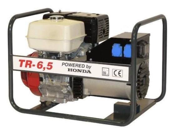 Generator de curent Honda TR6,5, motor GX-390, monofazat-trifazat, 6,5 kVA, 11 CP Honda