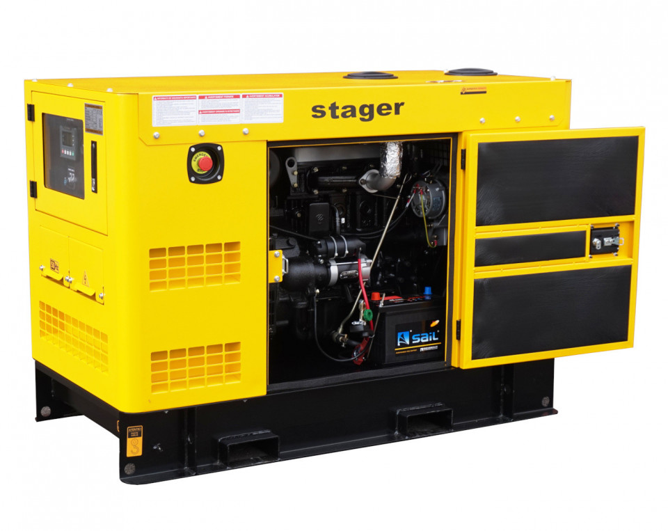 Stager YDY15S-E Generator insonorizat diesel monofazat 14kVA, 20A, 1500rpm STAGER