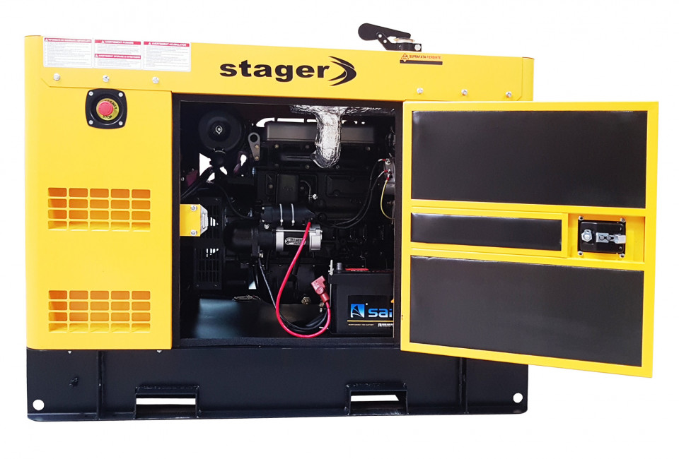 Stager YDY15S3-E Generator insonorizat diesel trifazat 14kVA, 20A, 1500rpm STAGER
