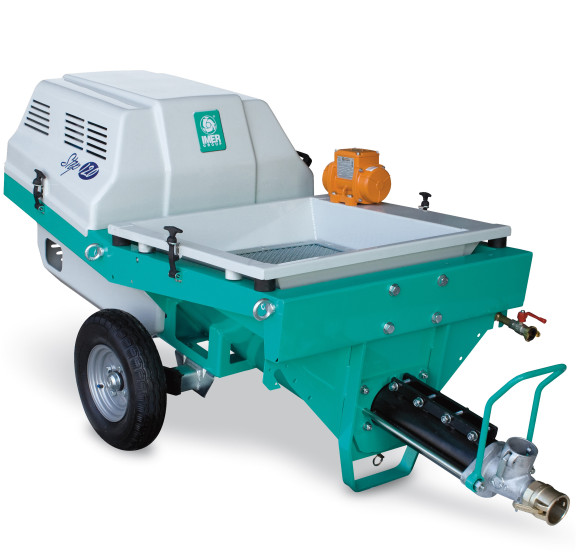 Step 120, motor 400V, debit maxim material 35 l/min., dist. de pompare orizontal/vertical 60/30 IMER