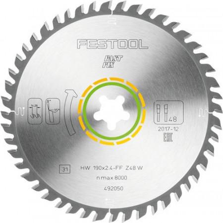 Festool Panza de ferastrau circular cu dinti fini 190x2,4 FF W48