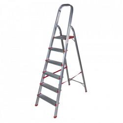 Scara aluminiu 6 trepte, 170cm pentru interior STR0106