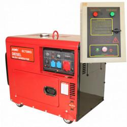Generator SC7500Q-3, Putere max. 6 kVA/6 kW, 400/230V, ATS&AVR, motor Diesel