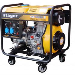 Stager YDE6500E Generator open frame diesel monofazat, 4.5kW, pornire la cheie