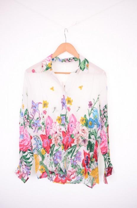 Camasa din vascoza, cu imprimeu floral, engros