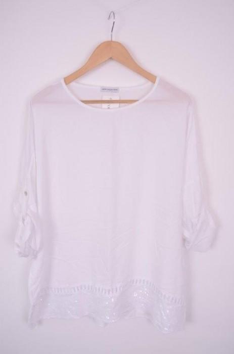 Bluza de dama cu detaliu sclipici, engros