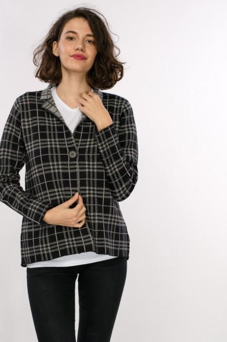 Jacheta dama, carouri, tricot, engros