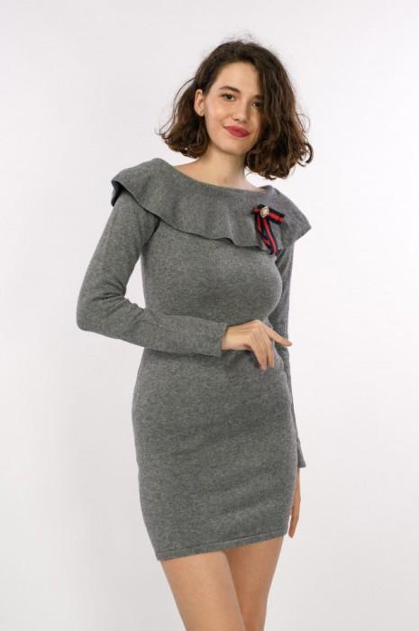 Rochie tricot, detaliu fundita cu perle, engros