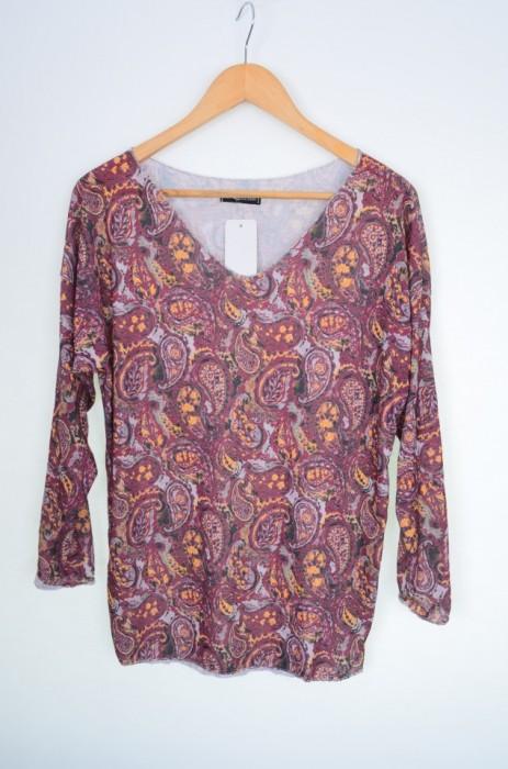 Bluza dama cu imprimeu abstract paisley, engros