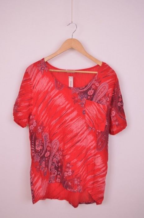 Bluza de dama, cu imprimeu modern, bumbac, engros