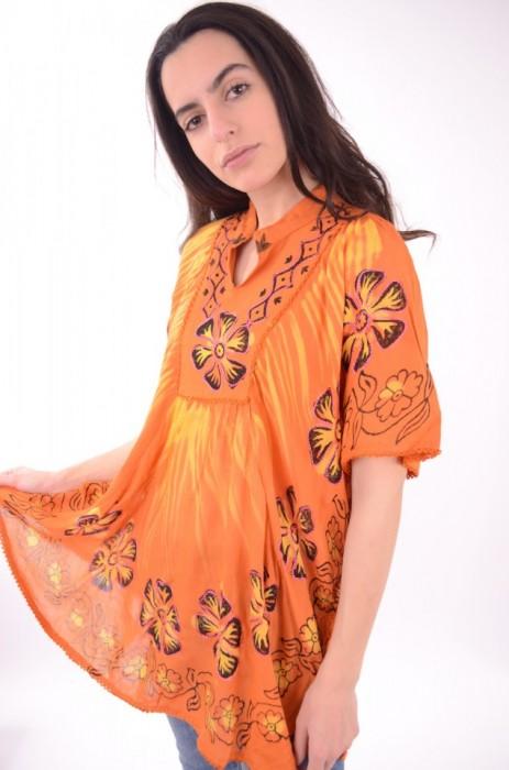 Bluza din raion cu imprimeu colorat, engros