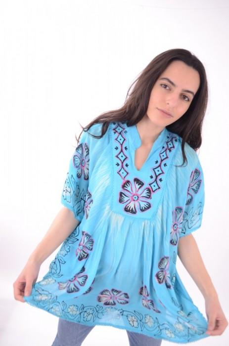 Bluza imprimeu colorat, engros