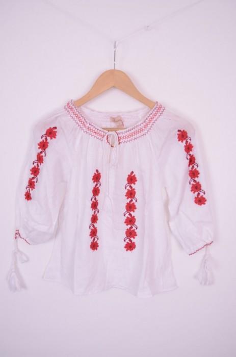 Bluza traditionala de fetite, cu broderie colorata, engros