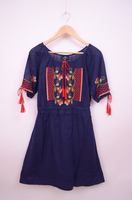 Poze Rochie stil traditional engros, cu broderie colorata